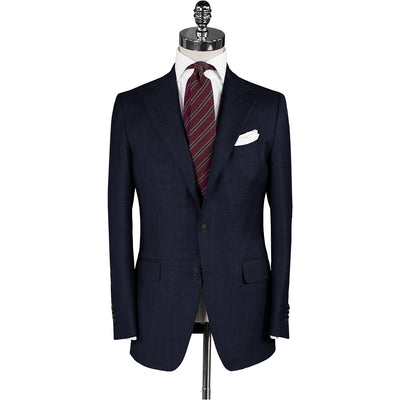 Navy Plain Weave Suit - Beckett & Robb