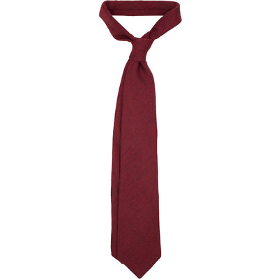 Solid Burgundy Wool Tie - Beckett & Robb