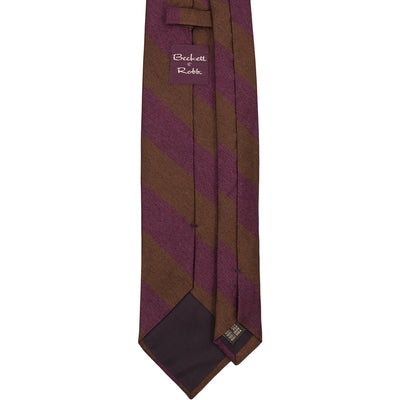 Classic Brown & Purple Tie - Beckett & Robb
