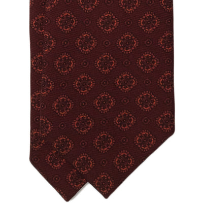 Burgundy Medallion Wool Tie - Beckett & Robb
