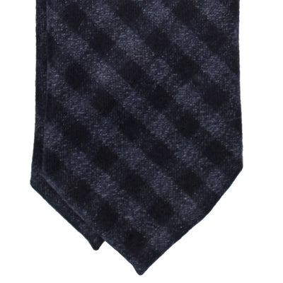 Navy Gingham Wool Tie - Beckett & Robb