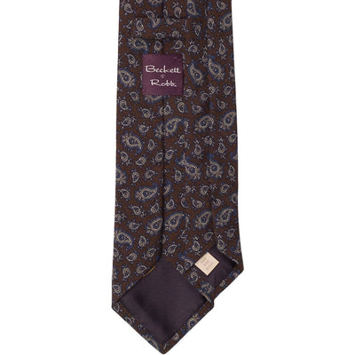 Brown Challis Wool Tie - Beckett & Robb