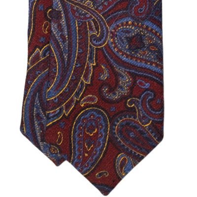 Multi-Colored Paisley Wool Tie - Beckett & Robb