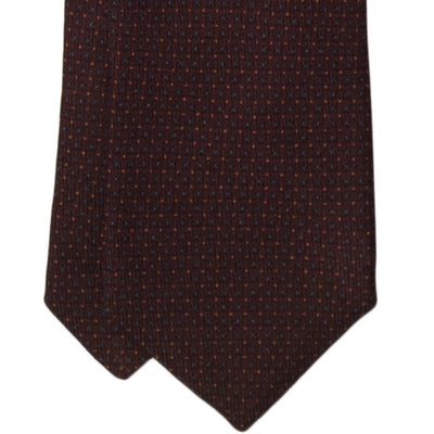 Burgundy Geometric Wool Tie - Beckett & Robb