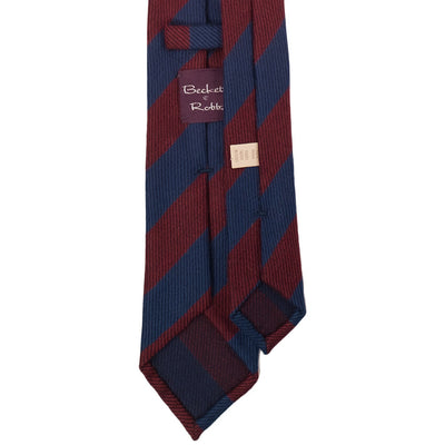 Classic Blue & Red Wool Tie - Beckett & Robb