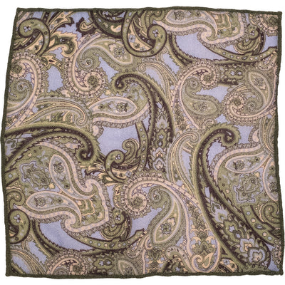 Green Paisley Pocket Square - Beckett & Robb