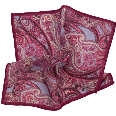 Magenta Paisley Pocket Square - Beckett & Robb