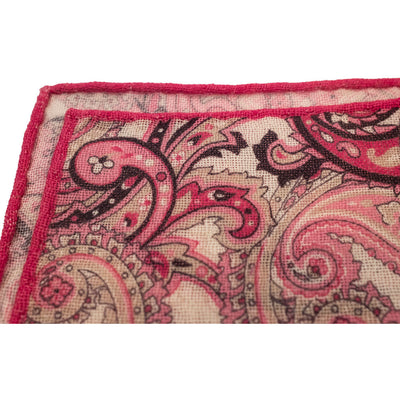 Pink Paisley Pocket Square - Beckett & Robb