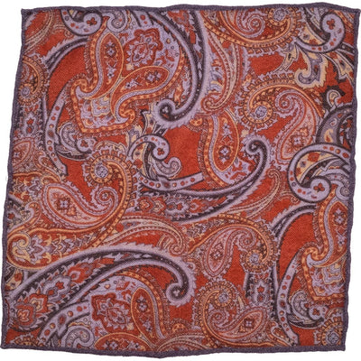 Red Paisley Pocket Square - Beckett & Robb