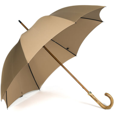 Fox Light Grained Stick Umbrella - Camel Canopy - Beckett & Robb