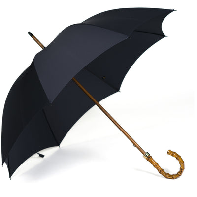 Fox Whanghee Handle Stick Umbrella - Navy Canopy - Beckett & Robb