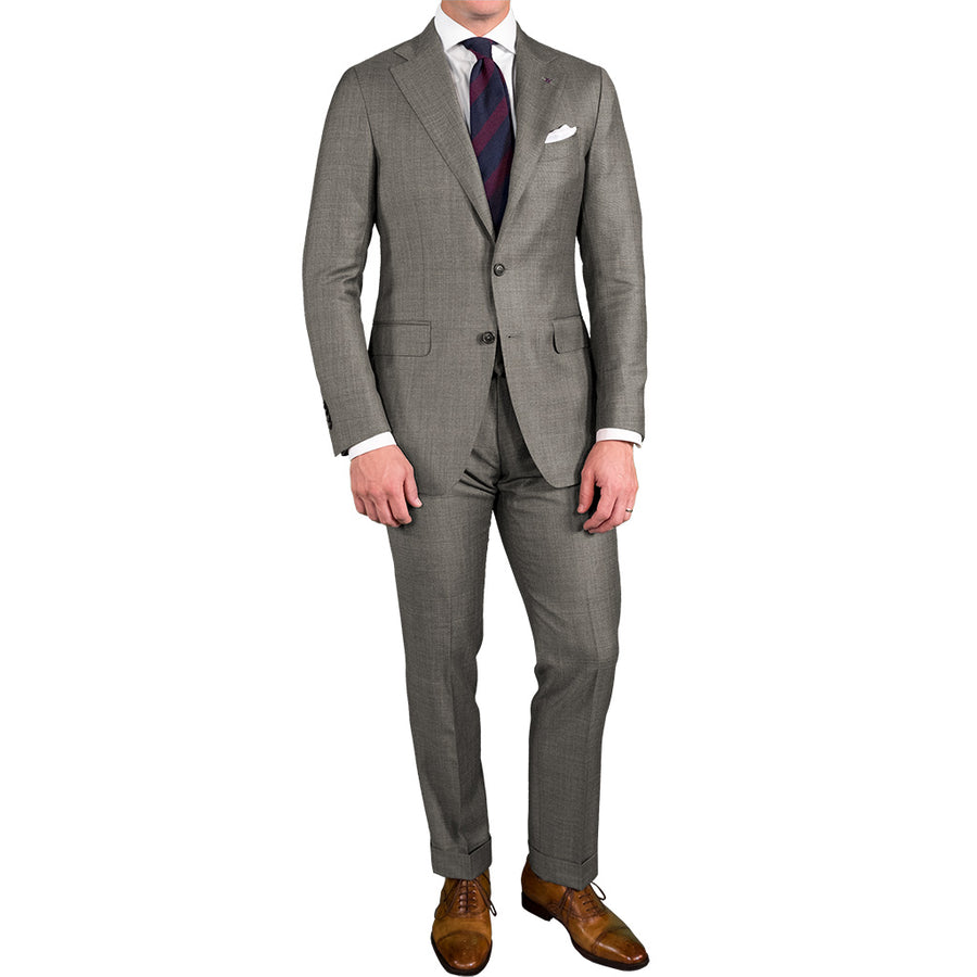 Light Grey Glen Plaid Suit - Beckett & Robb