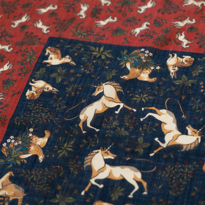 Red Unicorn Print Pocket Square - Beckett & Robb