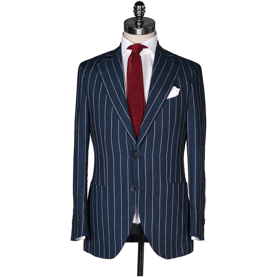 Navy Linen Pin Stripe Suit - Beckett & Robb