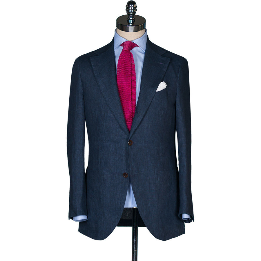 Navy Linen Suit - Beckett & Robb