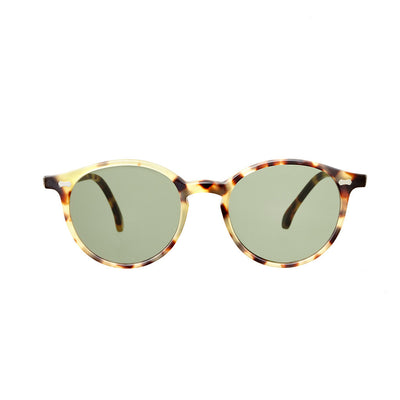 Matte Light Tortoise Acetate Frame - Bottle Green Lenses - Beckett & Robb