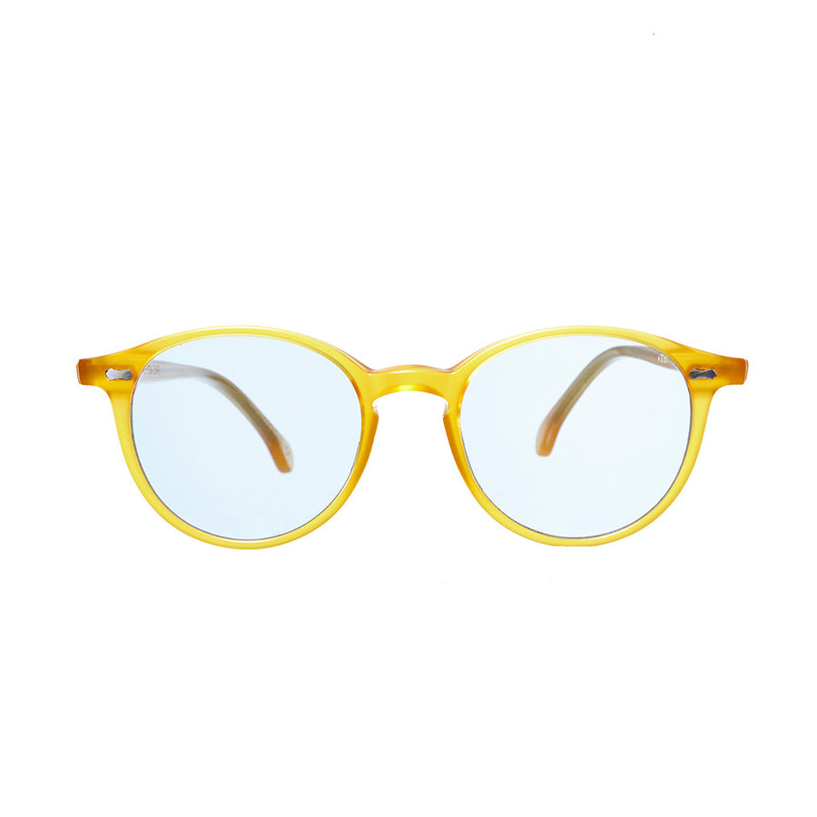 Honey Acetate Frame - Blue Lenses - Beckett & Robb