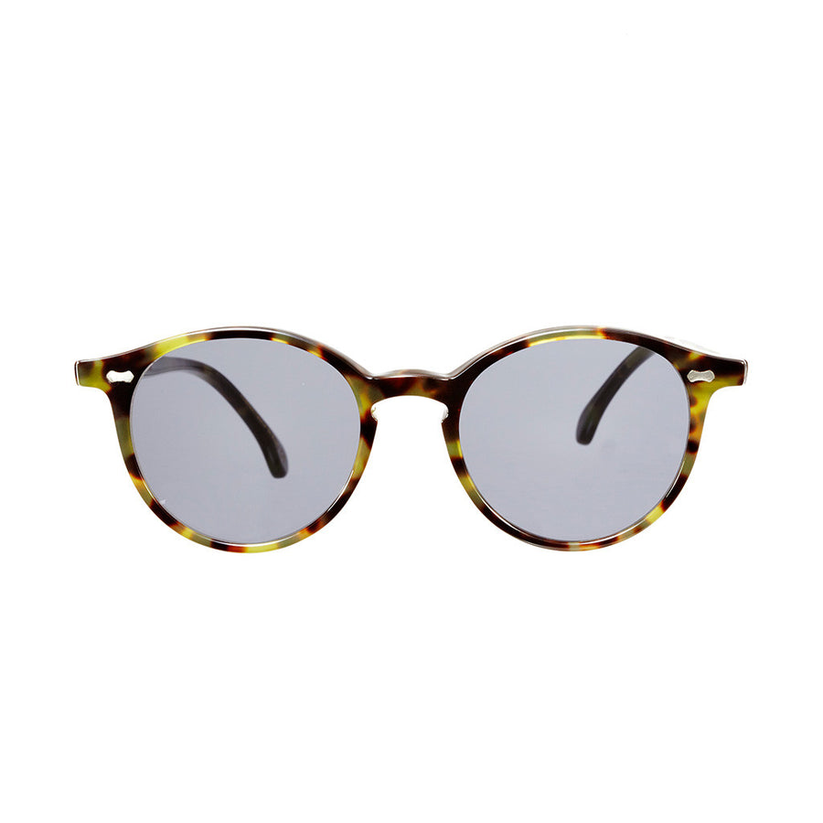 Cran Green Tortoise Frame - Gradient Grey Lenses