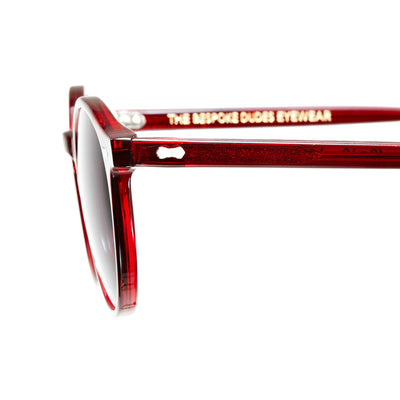 NGA Red Amaranth Frame - Gradient Grey Lenses - Beckett & Robb
