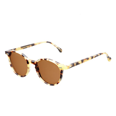 Matte Light Tortoise Acetate Frame - Tobacco Lenses - Beckett & Robb