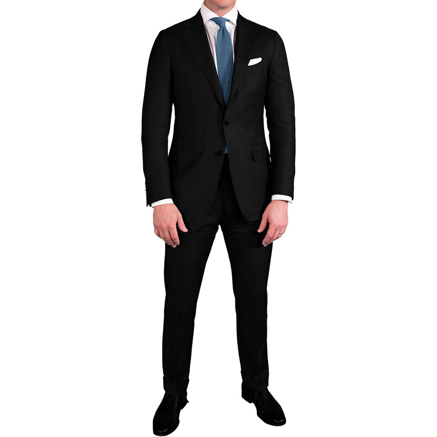 Black Traditional Worsted Suit