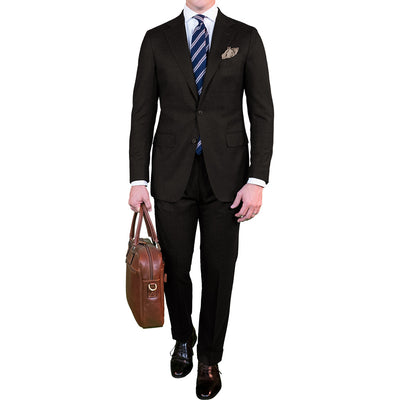 Dark Brown Fresco Suit - Beckett & Robb