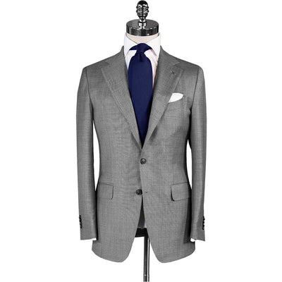 Light Grey Wool/Mohair Suit - Beckett & Robb