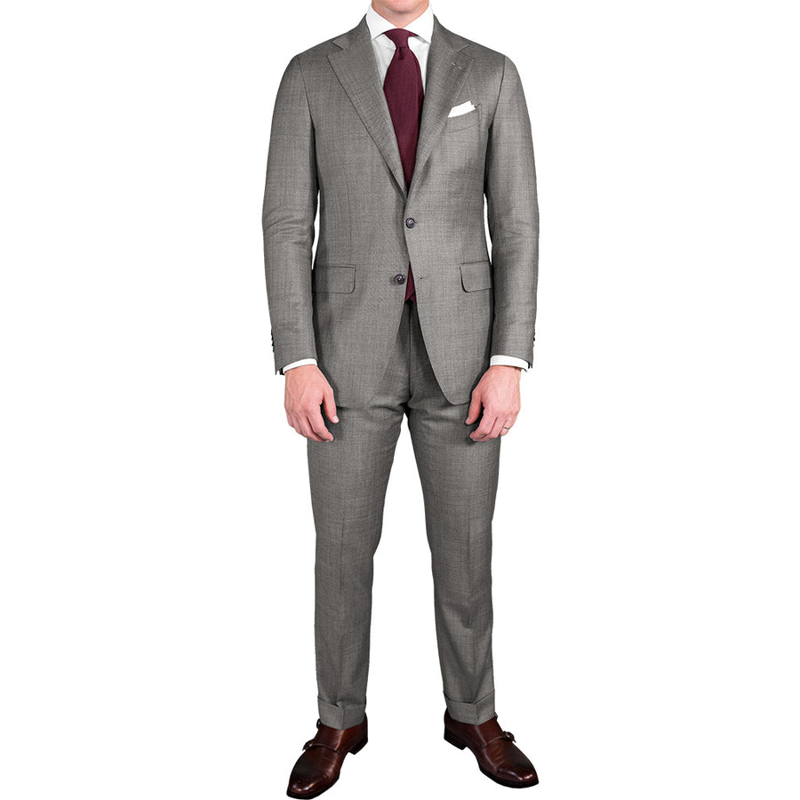 Light Grey Wool/Mohair Suit