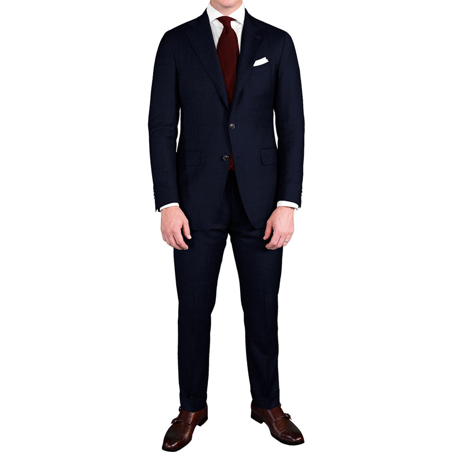 Midnight Navy Wool/Mohair Suit - Beckett & Robb