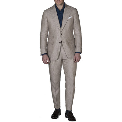 Tan Linen Suit - Beckett & Robb
