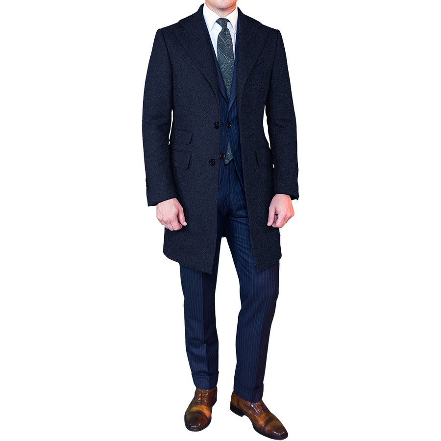 Navy Cashmere Topcoat