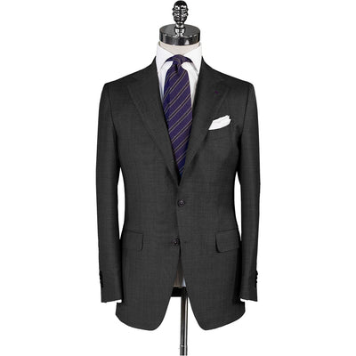 Medium Grey Twill Suit - Beckett & Robb