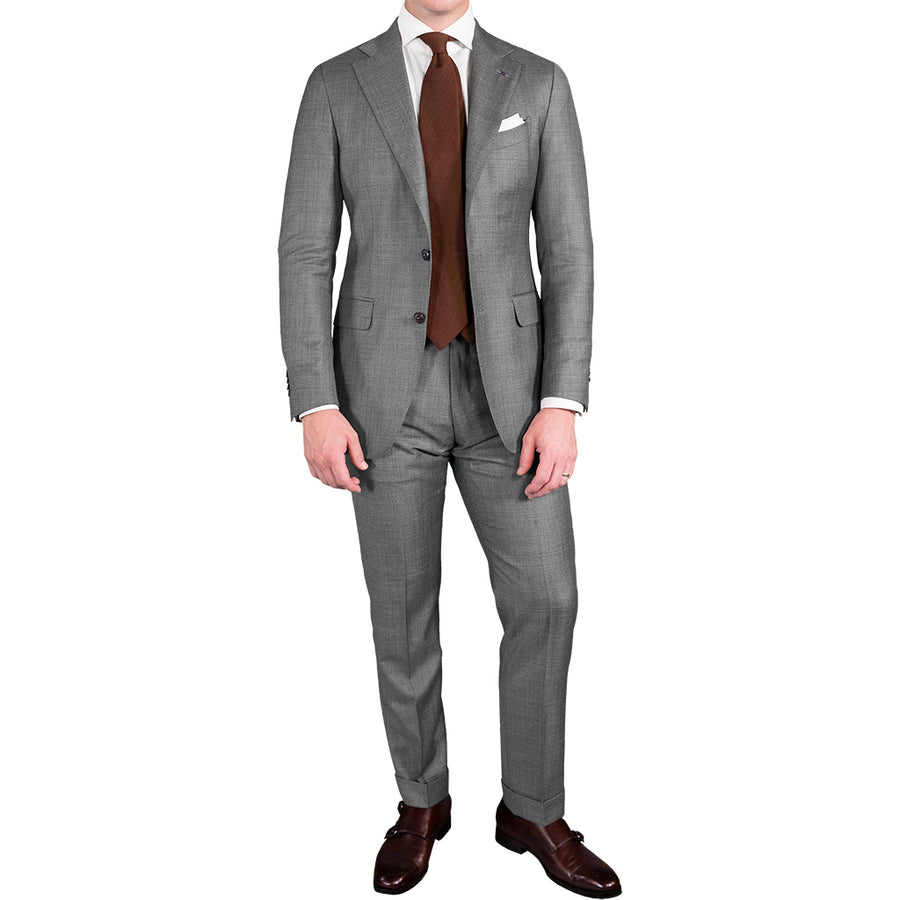 Light Grey Twill Suit - Beckett & Robb