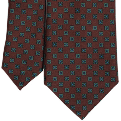 Rust Brown Foulard Silk Tie - Beckett & Robb