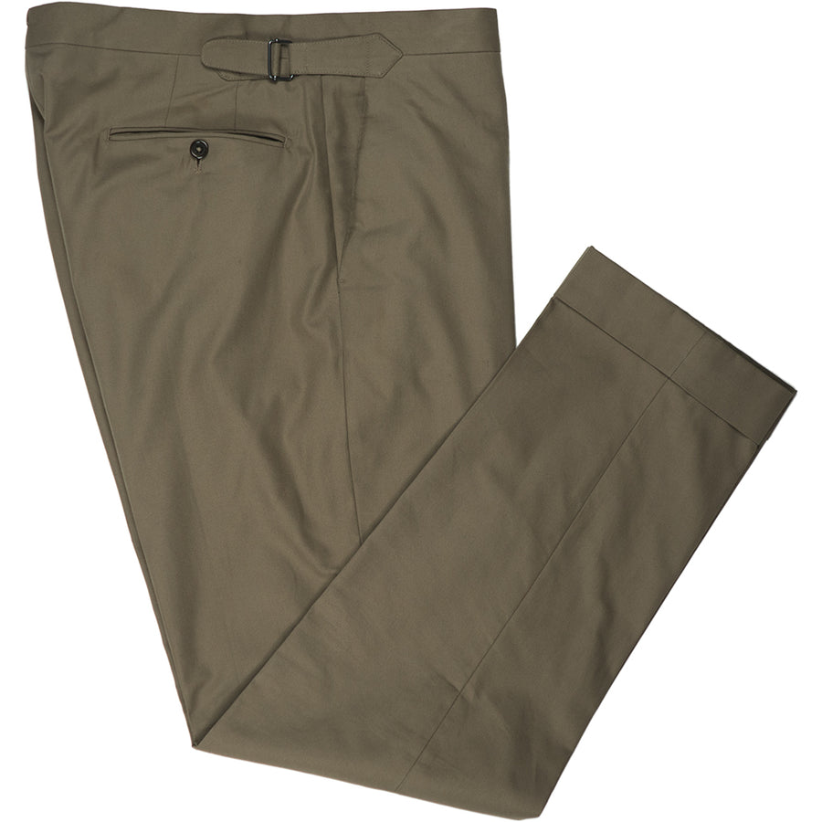 Brown Cotton Trousers - Beckett & Robb