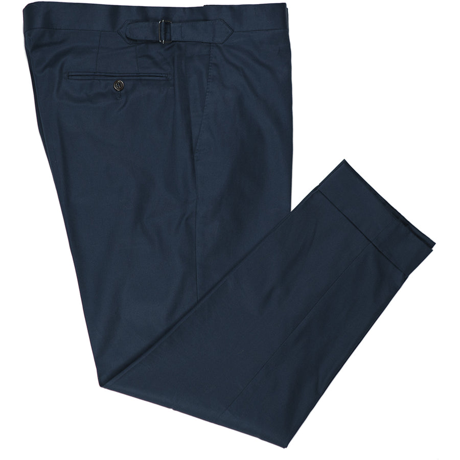 Navy Cotton Trousers - Beckett & Robb