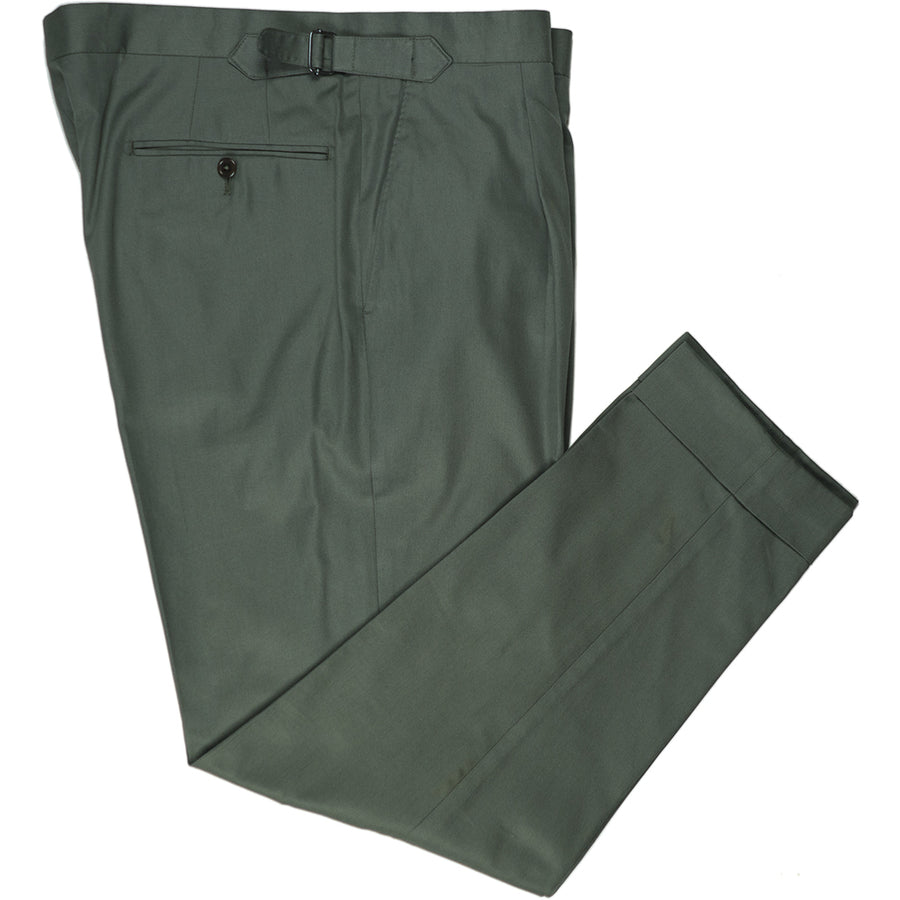 Olive Cotton Trousers - Beckett & Robb