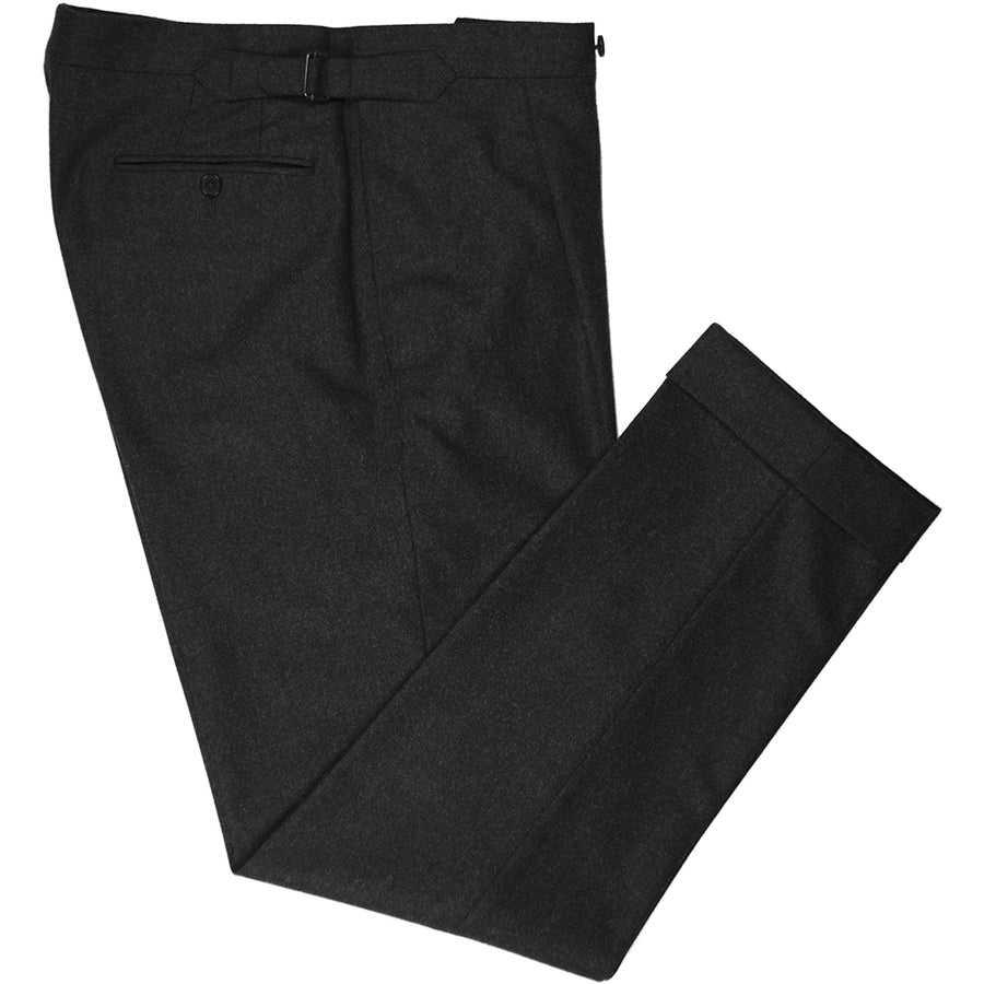 Charcoal Flannel Trousers - Beckett & Robb