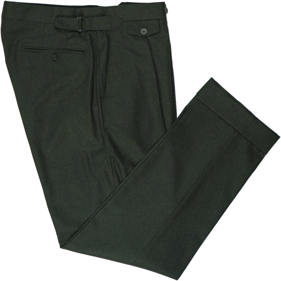Green Flannel Trousers