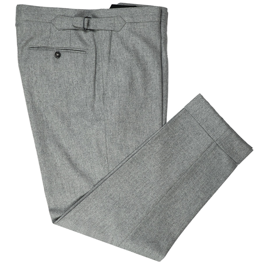 Light Grey Flannel Trousers - Beckett & Robb