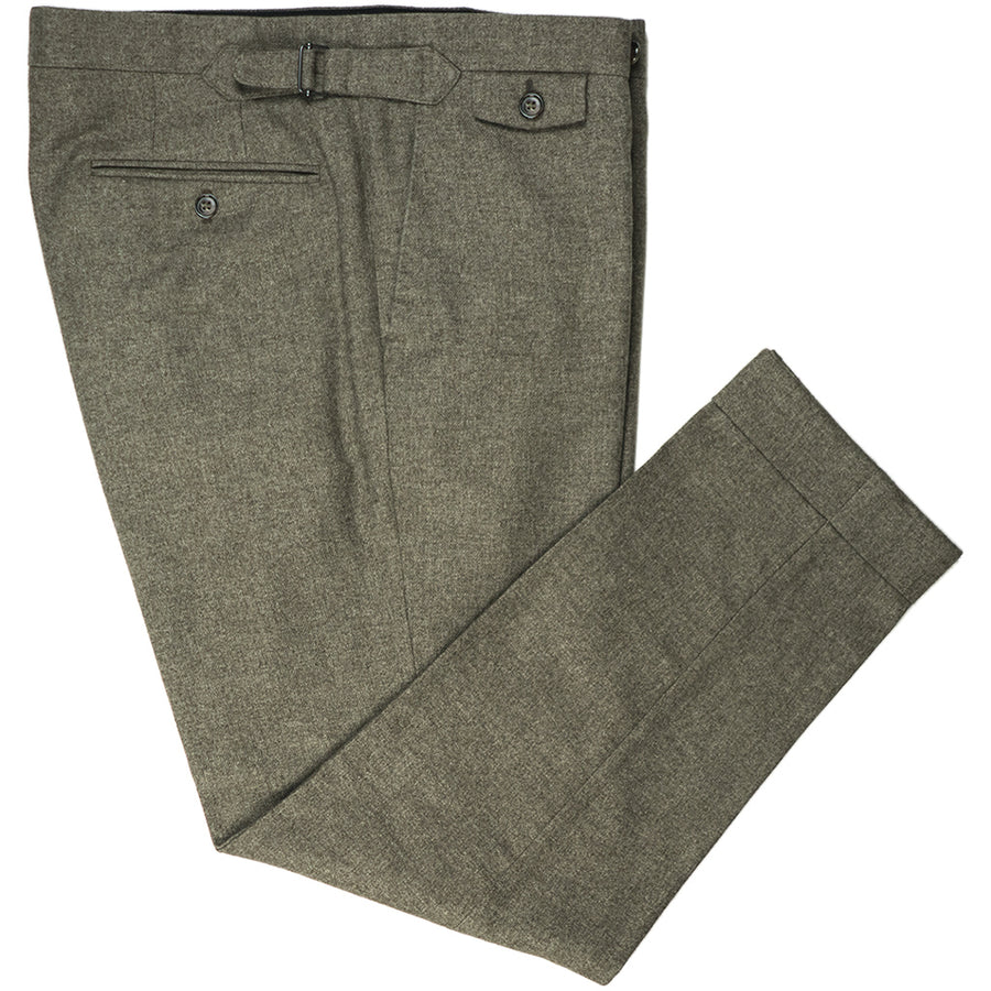 Oatmeal Flannel Trousers - Beckett & Robb