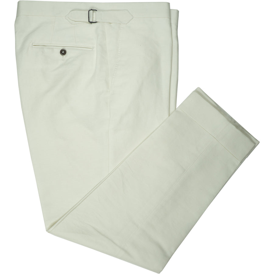 Off-White Linen & Cotton Trousers - Beckett & Robb