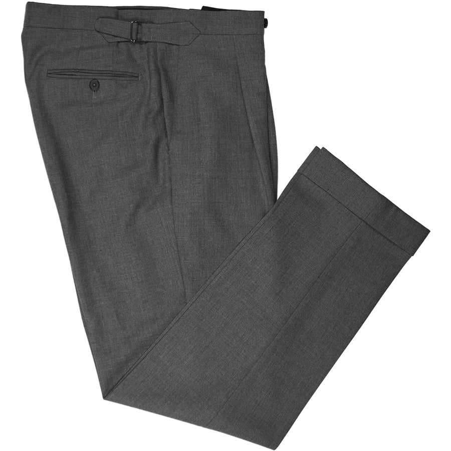 Grey Wool Trousers - Beckett & Robb