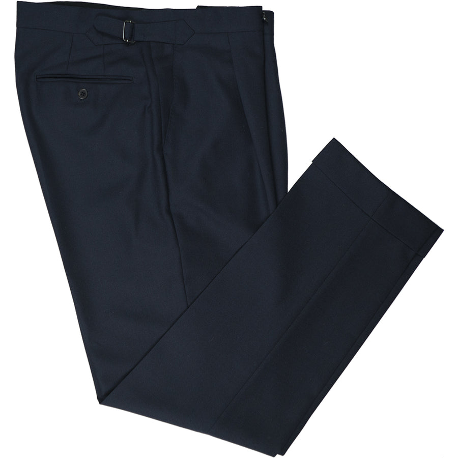 Navy Wool Trousers - Beckett & Robb