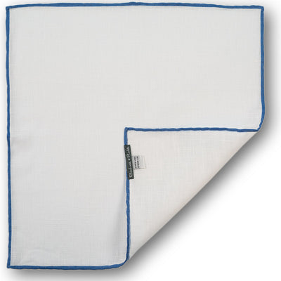 Blue Hand-Rolled Linen Pocket Square - Beckett & Robb