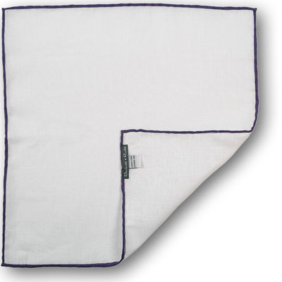 Purple Hand-Rolled Linen Pocket Square - Beckett & Robb