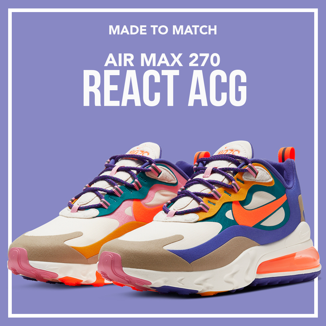 Clothing Made to Match Air Max 270 React ACG Sneakers