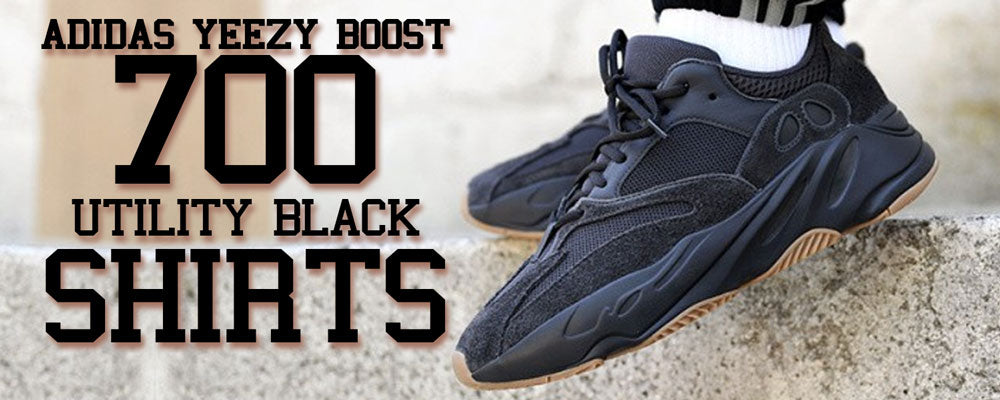best website 68685 f3e5c Yeezy Boost 700 V2 Utility Black Sneaker Match Shirt – Cap Swag
