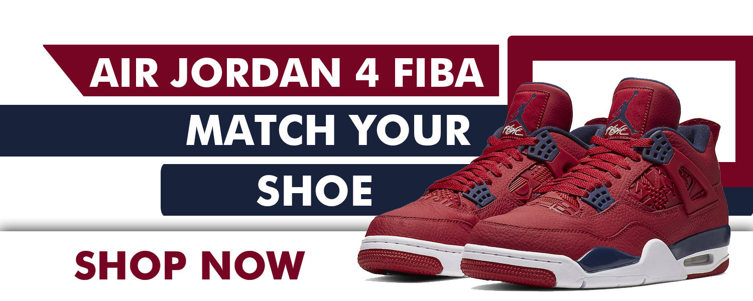 Jordan 4 FIBA Matching Sneaker Clothing | Sneaker Outfits to match FIBA 4s