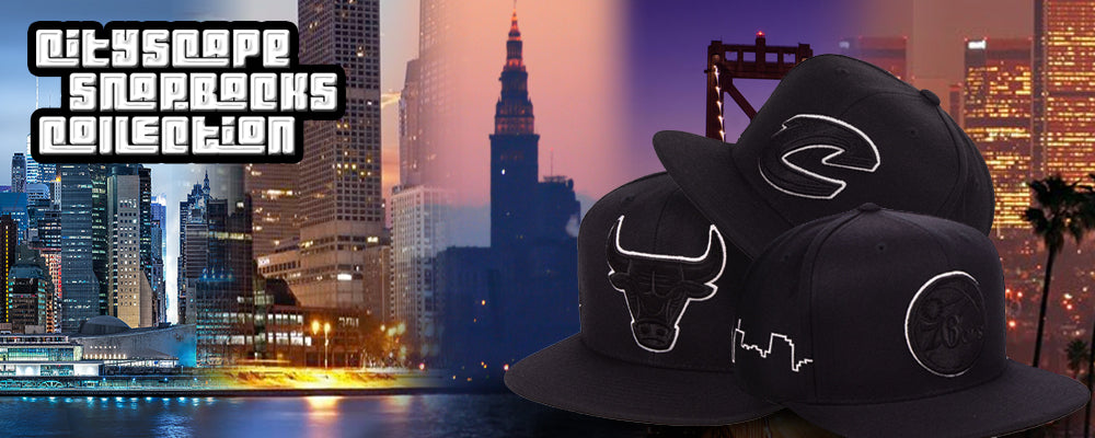 NBA City Skyline Snapback Hats